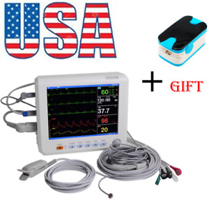 12 Inch Medical Patient Monitor 6 parameter Icu Ccu Vital Sign Machine oximeter
