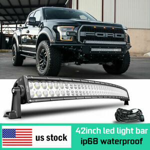 42inch 540w Led Light Bar Combo Straight Dual row Driving Off road 4wd Truck