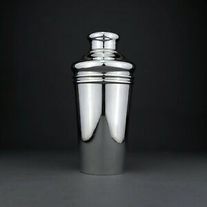 Antique Tiffany American Solid Sterling Silver Cocktail Shaker Art Deco 1920 S