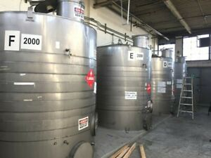 Sold Each Used 2 000 Gallon Jacketed Vertical Stainless Steel Storage Tank