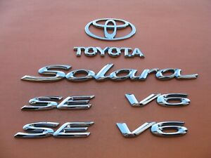 99 00 01 02 03 Toyota Solara V6 Se Rear Side Emblem Logo Badge Sign Symbol Set