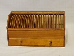 Vintage Wooden Office Desk Organizer With Drawer Monthly Bill Organizer