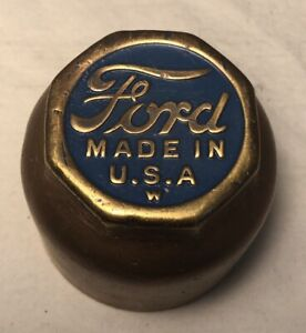 Ford Model T Brass Grease Hub Cap Threaded Dust Cover Screw On