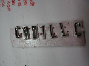 Cadillac 1956 Chrome Trunk Letters