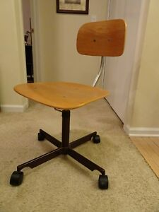 Vintage Kevi Jorgen Rasmussen Danish Modern Swivel Desk Office Chair