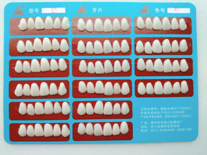 1card Dental Tooth Veneer Anterior Resin Thin Teeth Veneer Porcelain 96p card A1