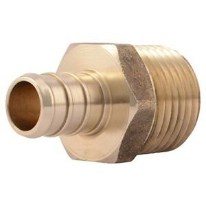 Sharkbite 1 2 In Cf X 1 2 In Mpt Brass Pex Adapter