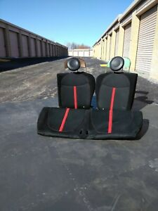12 16 Fiat 500 Abarth Oem Black And Red Rear Bench Seats Used In Great Condition
