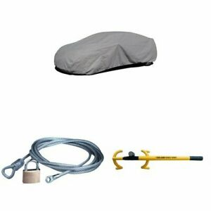 budge Lite Car Cover With Cable Lock Security Kit And The Club 3000 Twin Hoo
