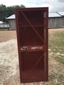 Vintage Lyon Locker Athletic Gym Football School 5 X 24 X 18 Expanded Metal