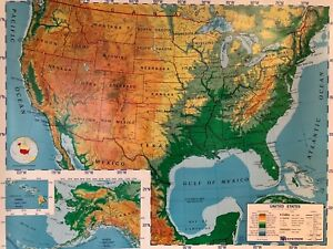 Pull Down School Maps 1 Layer U S Vintage Salvage Old Antique