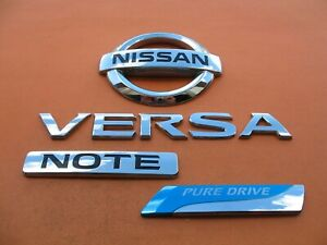 14 15 16 17 Nissan Versa Note Pure Drive Rear Emblem Logo Badge Sign Symbol Set
