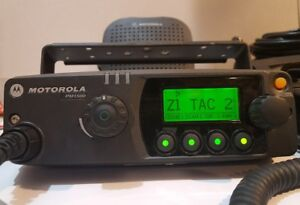 Motorola Pm1500 Vhf 136 174 Mhz 110w P25 Mdc Digital Mobile Radio Aam79ktd9pw5an