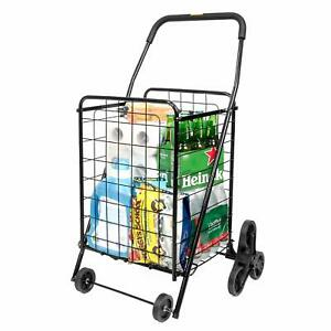 Stair Climbing Shopping Grocery Cart Supenice Folding Portable Utility Cart