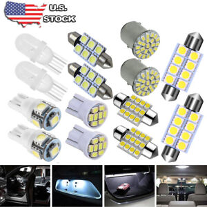 14x White Led Interior Package Kit T10 36mm Map Dome License Brake Lights Bulb