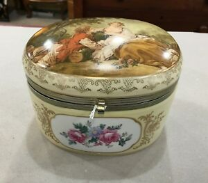 Continental Porcelain Jewelry Box