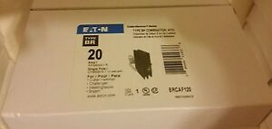 10 X Breaker Eaton Cutler hammer Combination Afci 20 Amp Brcaf120 New