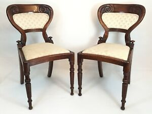 Antique Wood Spindle Chair Pair Old Wooden Furniture Hand Carved Art Chairs Vtg