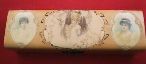 Beautiful Victorian Ladies Vanity Celluloid Glove Box With Curved Lid