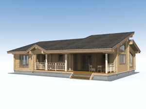 Laminated Log House Kit Ecofriendly Prefab Diy Building Home Cabin Kit 1730sq ft