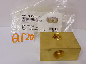 Hotsy Pressure Washer Karcher Brass Block Discharge 1 2 X 1 2 98028710 07101226