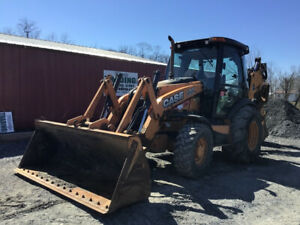 2015 Case 580sn 4x4 Tractor Loader Backhoe W Cab Extend a hoe
