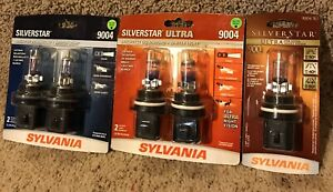 Lot Or 5 Sylvania Silverstar Ultra 9004 High Performance Headlight Bulbs Free