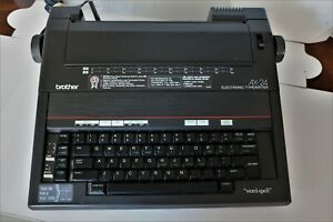 Brother Model Ax 24 Electronic Typewriter Word spell Works Great