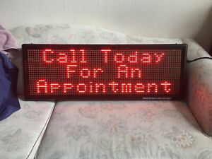 Led Sign Full Color Scrolling Programmable Message Board 14 x40 New
