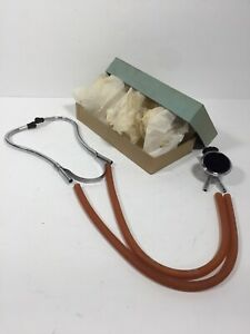 Nos Vintage Medics Inst Corp Stethoscope Brooklyn Ny Usa New Unused Condition