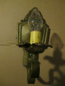 Antique 1920s Sconce Wall Mounted Electric Light Fixture Candle