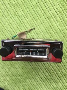 Motorola Transistor Powered Am Radio 6 Volt Vintage Ford Chevy 1950s