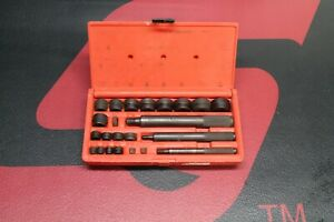 Snap On Tools Bushing Driver Set With Case A157c