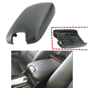 For Honda Accord 2008 2009 2010 2011 2012 Console Arm Rest Leather Cover Black