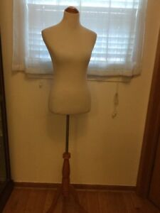 Female Mannequin Torso With Tripod Stand White