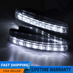 Universal 8led Car Light Drl Fog Daylight Driving Daytime Running White Lamps