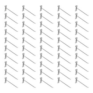 50 Pc 8 Chrome Grid Wall Metal Hooks Display For Use W Gridwall Panels