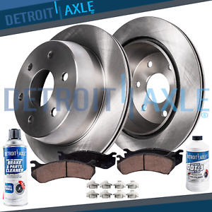 Front Disc Brake Rotors 4 7 Ceramic Pads For 2000 2003 Toyota Sequoia Tundra