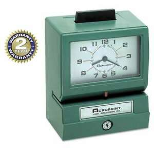 Acroprint Model 125 Analog Manual Print Time Clock With Month da 033297120700
