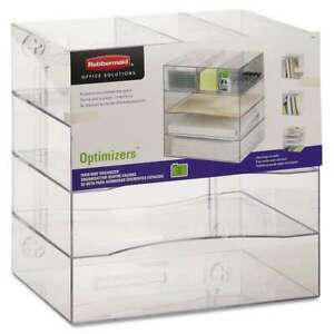 Rubbermaid Optimizers Four way Organizer With Drawers Plastic 030402946002
