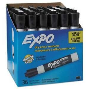 Expo Low Odor Dry Erase Marker Chisel Tip Black 36 box 071641084582