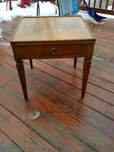 Vintage Mcm Baker Furniture End Side Table With Drawer 234