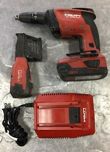 Hilti Sd 4500 a22 21 6v Drywall Screw Gun Bundle With Battery Charger Used