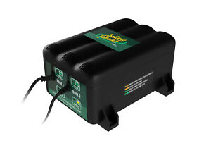 Battery Tender 2 bank Charger Charge Up To 2 Vehicle Batteries 022 0165