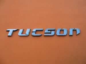 05 06 07 08 09 Hyundai Tucson Rear Lid Gate Chrome Emblem Logo Badge Oem 3