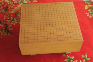 Goban Vintage Japanese Wood Go Game Board Hand Carved Wooden Legs 2033