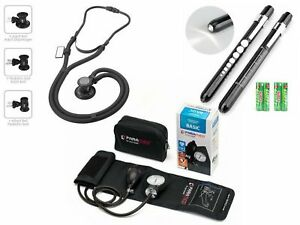 Dual Head Medical Stethoscope Medical Pen Light Manual Blood Pressure Cuff