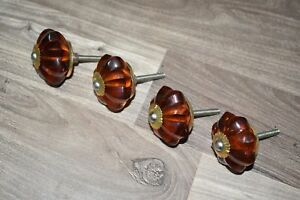 Vintage Glass Drawer Pulls Cabinet Door Knobs And Chrome Pull Handle 4 Pic