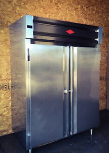 Double Door Commercial Reach In Refrigerator Stainless Steel Utility