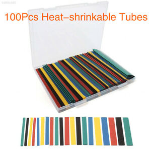 E1cf 100pcs 2 1 Mixed Color Heat Shrink Tube Sleeve Assorted 6 Size With Box